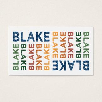 Blake Cute Colorful Business Card