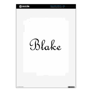 Blake Decals For iPad 2