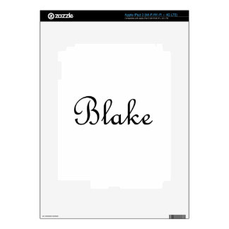 Blake Decals For iPad 3