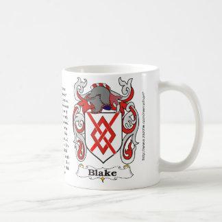 Blake Family Coat of Arms mug