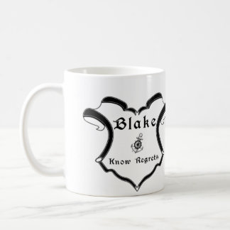 Blake Family Crest Modified - Mug - Black Ink