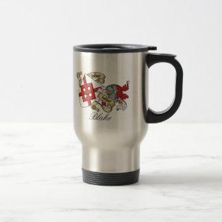 Blake Family Crest 15 Oz Stainless Steel Travel Mug