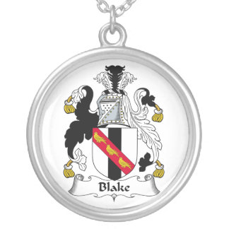 Blake Family Crest Round Pendant Necklace
