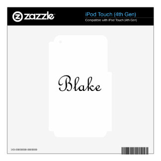 Blake iPod Touch 4G Skins
