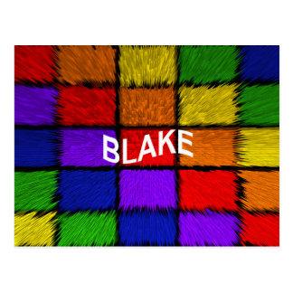 BLAKE ( male names ) Postcard