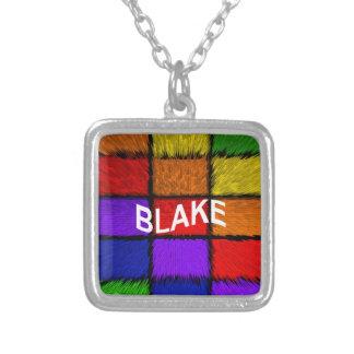 BLAKE ( male names ) Square Pendant Necklace