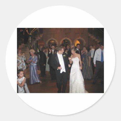 Blake & Megan Wedding Reception 026 Round Sticker