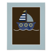 Blake Nautical Whale Nursery Wall Art Print