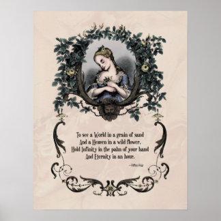 Blake para ver poster del arte del Victorian de u
