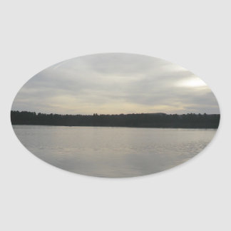 Blakemere Moss at Delamere Forest Oval Sticker