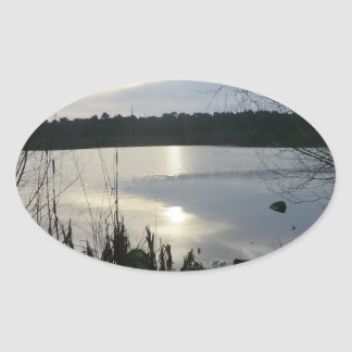 Blakemere Moss at Sunset in Delamere Forest Stickers