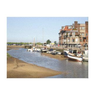 Blakeney Quay, Norfolk del norte Impresión En Lona Estirada