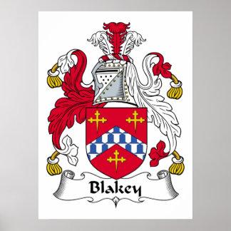 Blakey Family Crest Poster