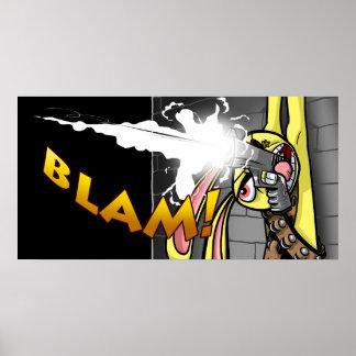 BLAM BLAM BAD BUNNY POSTER