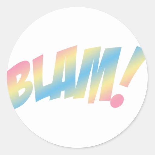 ¡Blam! Etiqueta Redonda