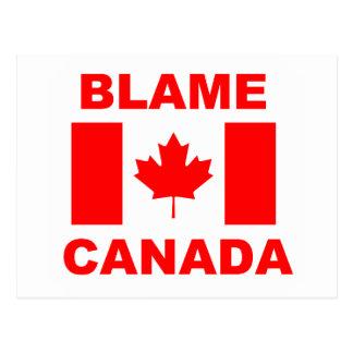 Blame Canada Postcard