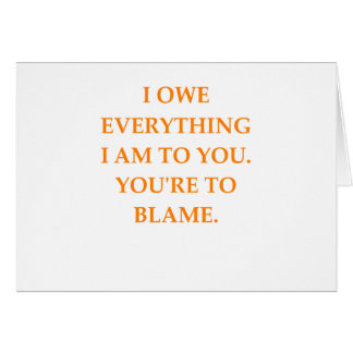 blame card
