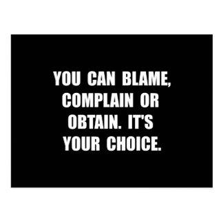 Blame Complain Obtain Postcard