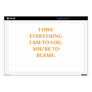 "blame decal for 17"" laptop"