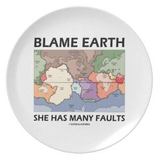 Blame Earth She Has Many Faults (Plate Tectonics) Plates