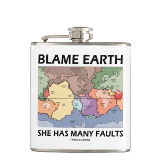Blame Earth She Has Many Faults (Plate Tectonics) Flasks