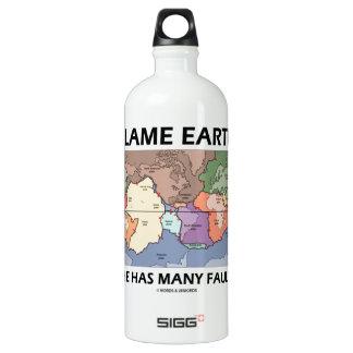 Blame Earth She Has Many Faults (Plate Tectonics) SIGG Traveler 1.0L Water Bottle