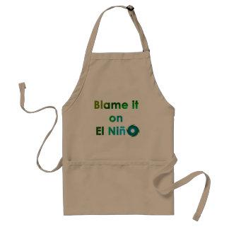 Blame El Nino Adult Apron