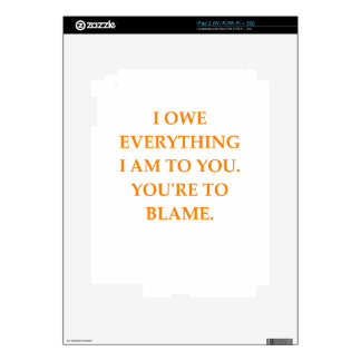 blame iPad 2 decal