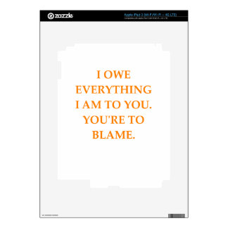 blame iPad 3 decal