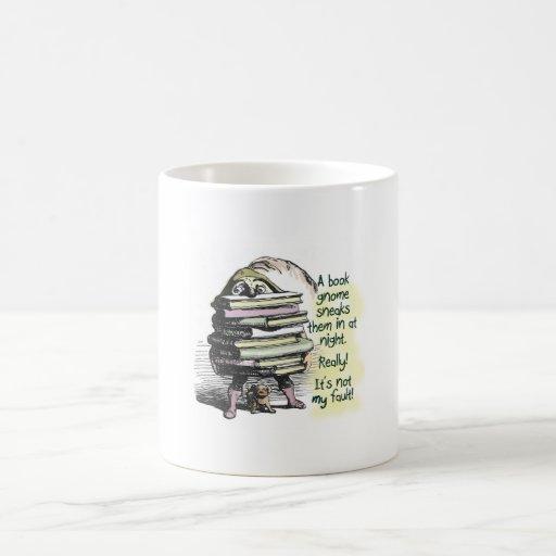 Blame it on the Book Gnome Coffee Mugs