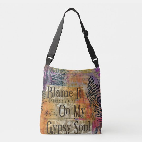 Mad Over Shirts Blame It on My Gypsy Soul Unisex Premium Tank Top