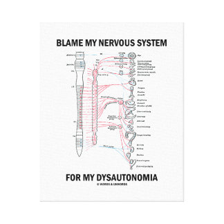 Blame My Nervous System For My Dysautonomia Canvas Print