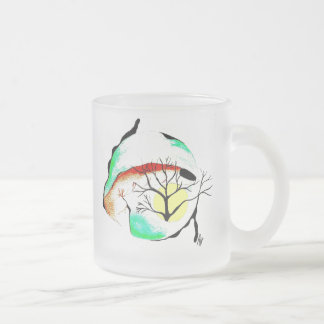 BLAME ON MIDNIGHT FROSTED GLASS COFFEE MUG