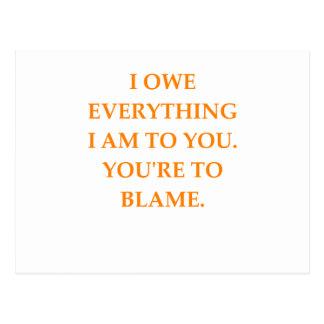 blame postcard