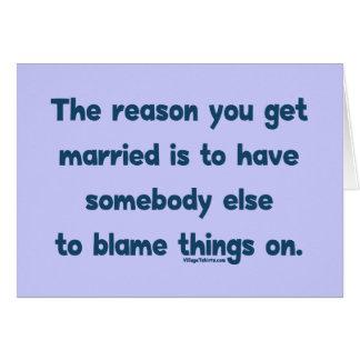 Blame Things On Card