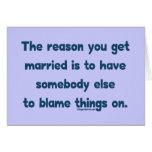 Blame Things On Cards