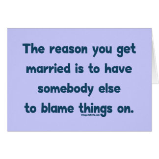 Blame Things On Stationery Note Card
