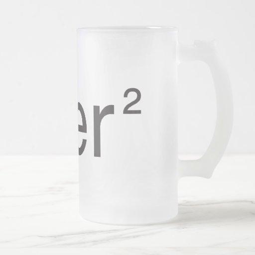 blanc 2,0 del ² v del über taza cristal mate