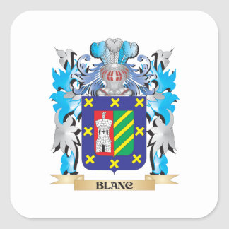 Blanc Coat of Arms Square Sticker