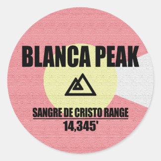 Blanca Peak Classic Round Sticker