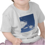blancas de los nubes de la estafa del azul del camiseta