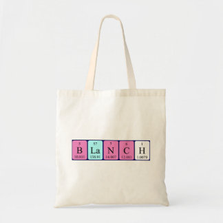 Blanch periodic table name tote bag
