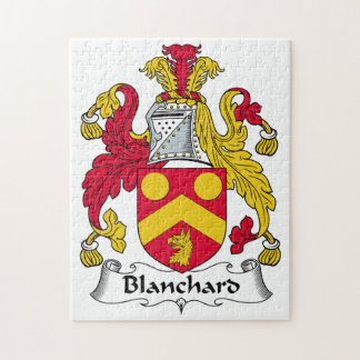 Blanchard Family Crest Jigsaw Puzzles