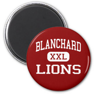 Blanchard - Lions - Middle - Blanchard Oklahoma 2 Inch Round Magnet