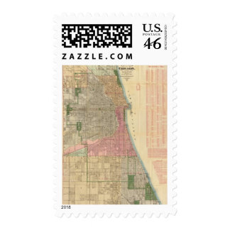 Blanchard s guide map of Chicago Stamps