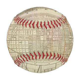 Blanchard's guide map of Chicago 2 Baseballs