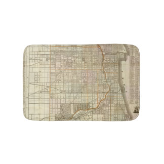 Blanchard's guide map of Chicago 2 Bath Mats