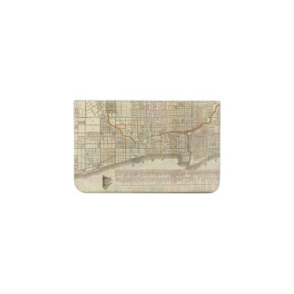 Blanchard's guide map of Chicago 2 Business Card Holder