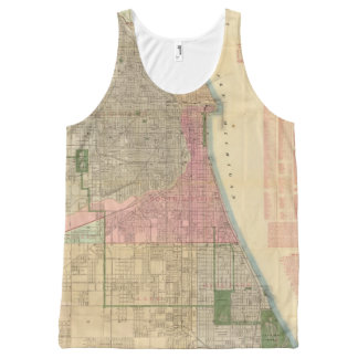 Blanchard's guide map of Chicago All-Over-Print Tank Top