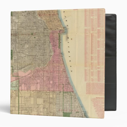 Blanchard's guide map of Chicago Binder